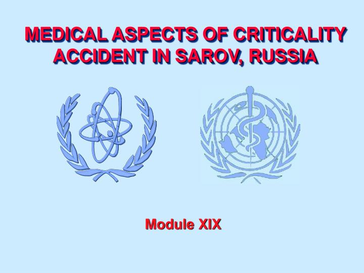Medical aspects of criticality accident in sarov russia