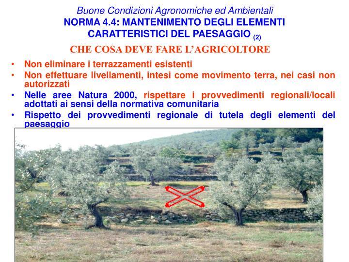 Buone Condizioni Agronomiche ed Ambientali