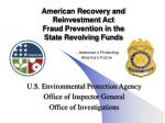 american recovery and reinvestment act fraud prevention in the state revolving funds