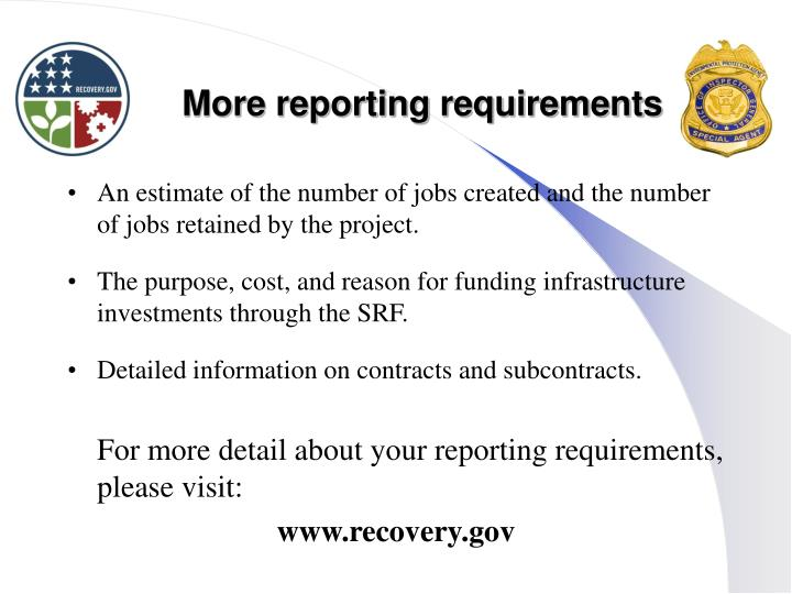 More reporting requirements