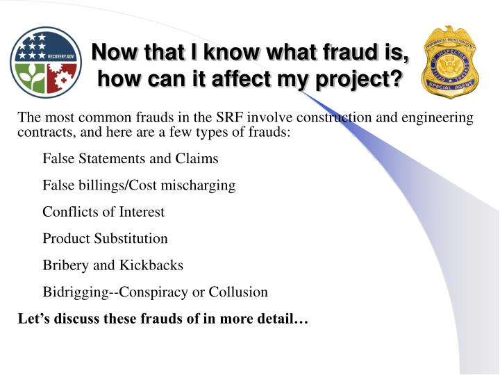 Now that I know what fraud is,