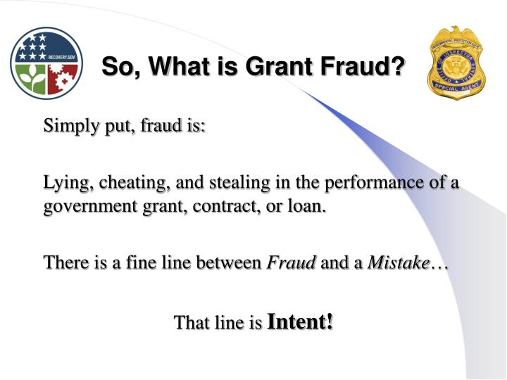 So, What is Grant Fraud?