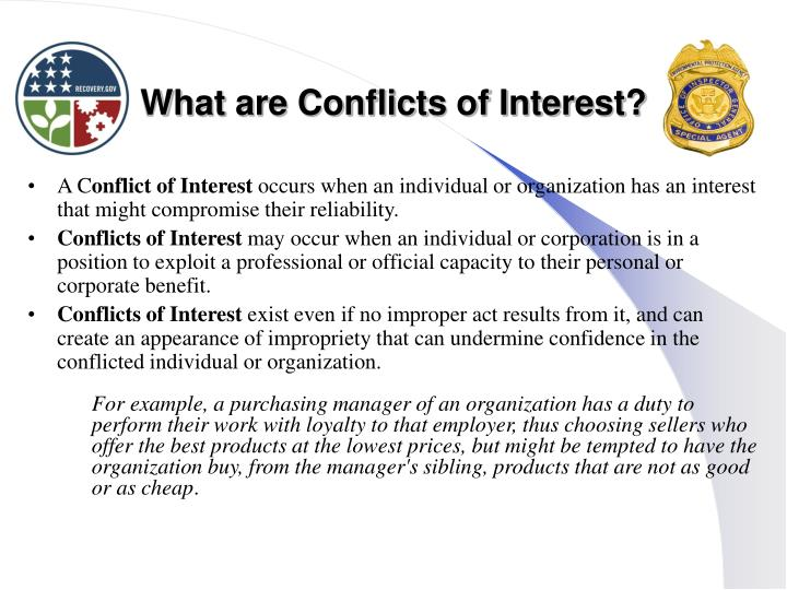 What are Conflicts of Interest?