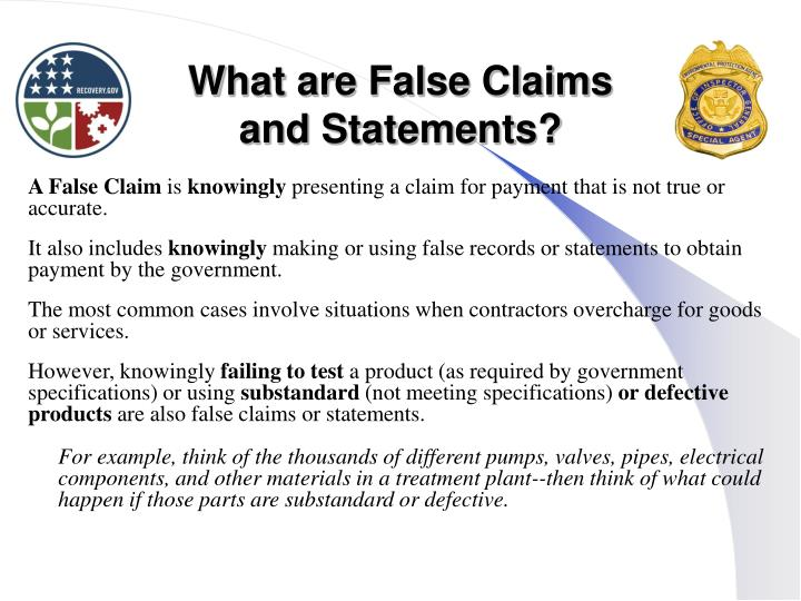 What are False Claims