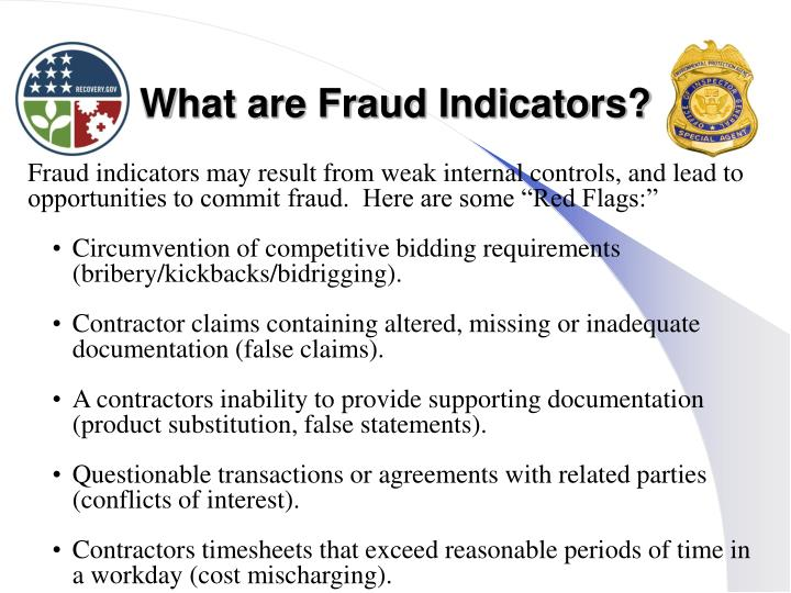 What are Fraud Indicators?