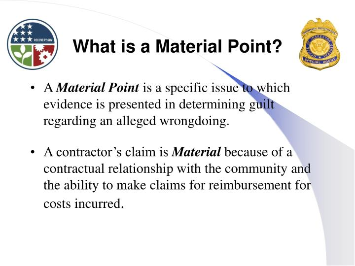 What is a Material Point?