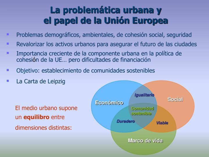 La problemática urbana y