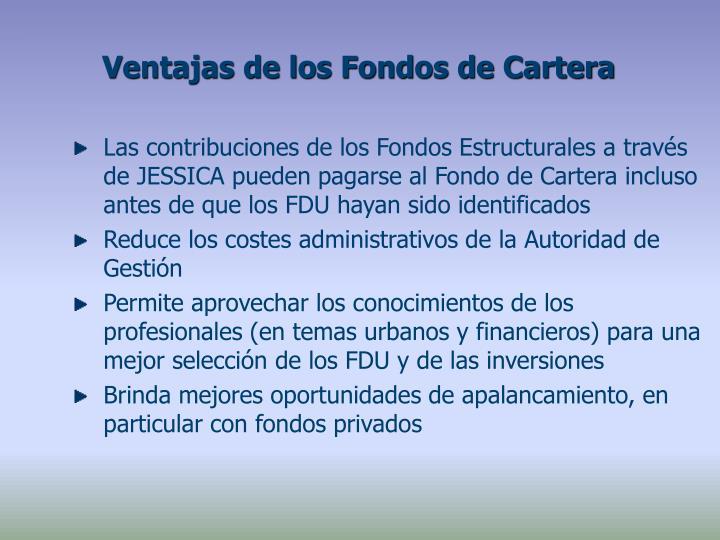 Ventajas de los Fondos de Cartera