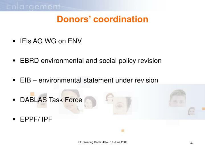 Donors' coordination