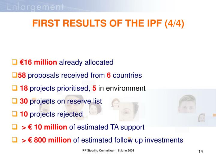FIRST RESULTS OF THE IPF (4/4)