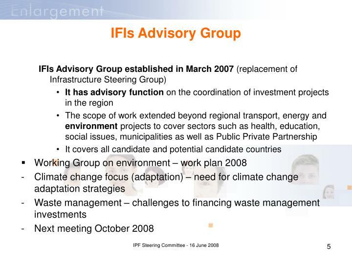 IFIs Advisory Group