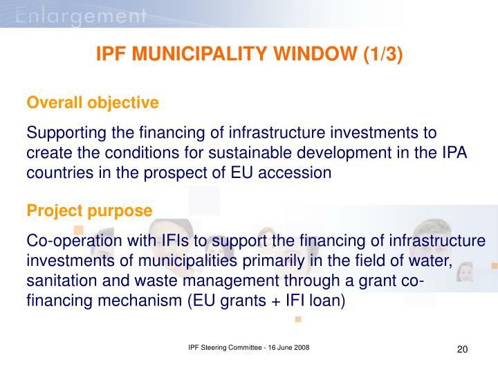 IPF MUNICIPALITY WINDOW (1/3)
