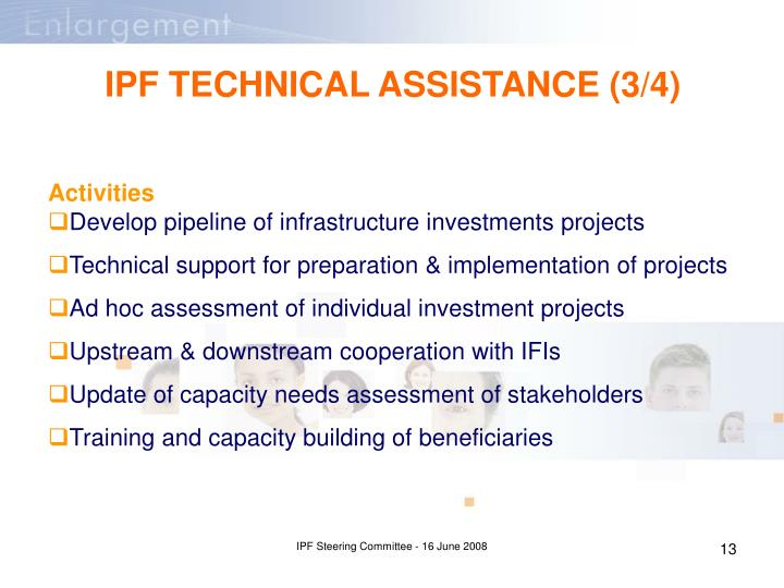 IPF TECHNICAL ASSISTANCE (3/4)