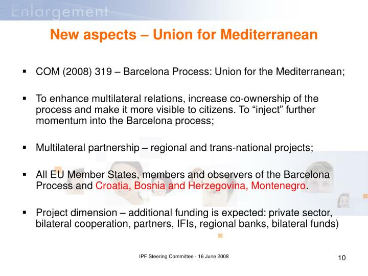 New aspects – Union for Mediterranean