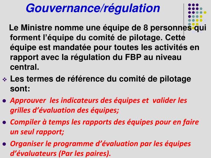 Gouvernance/régulation