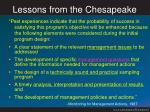 lessons from the chesapeake1
