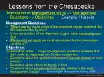 lessons from the chesapeake2