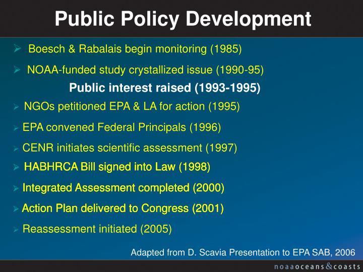 Public Policy Development