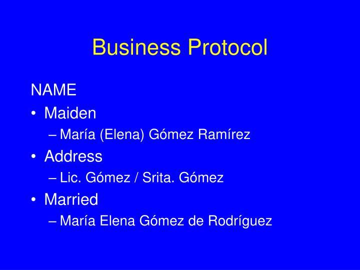 Business Protocol