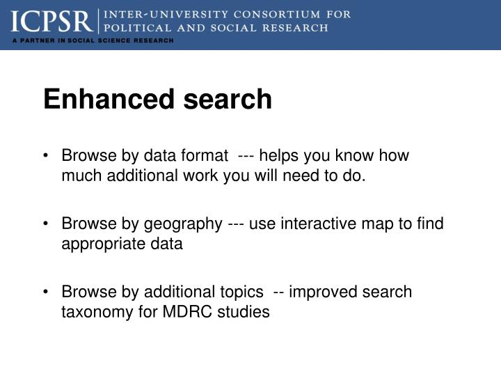Enhanced search