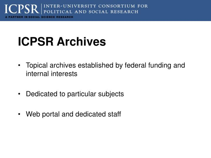 ICPSR Archives