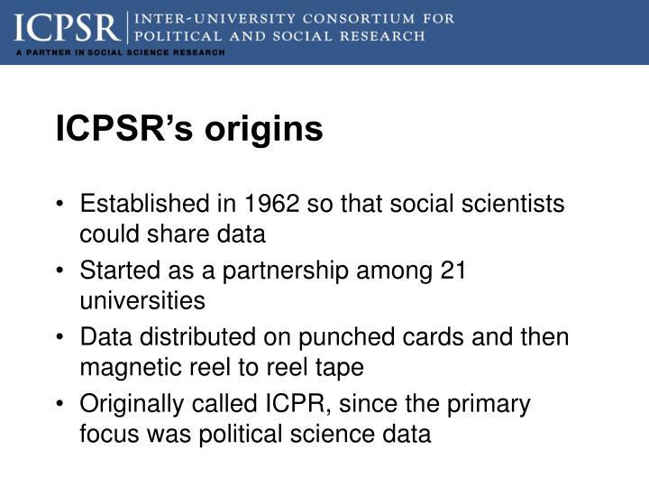 ICPSR's origins