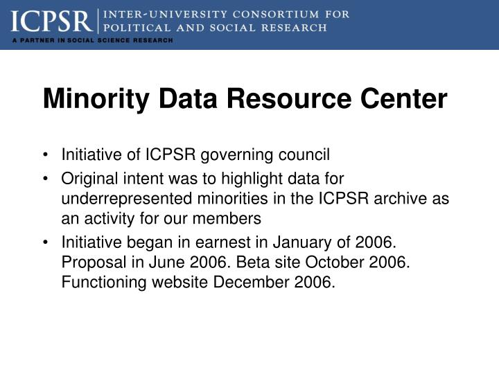 Minority Data Resource Center