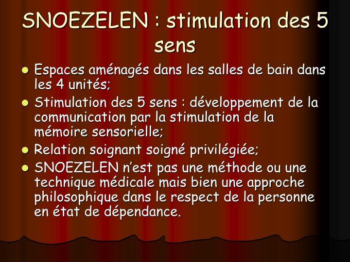 SNOEZELEN : stimulation des 5 sens