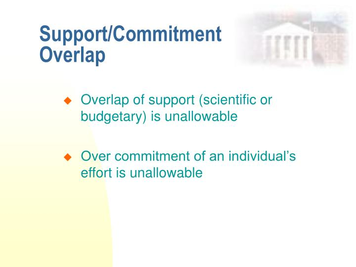 Support/Commitment Overlap