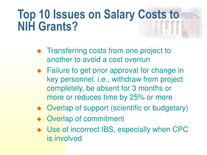 Top 10 Issues on Salary Costs to