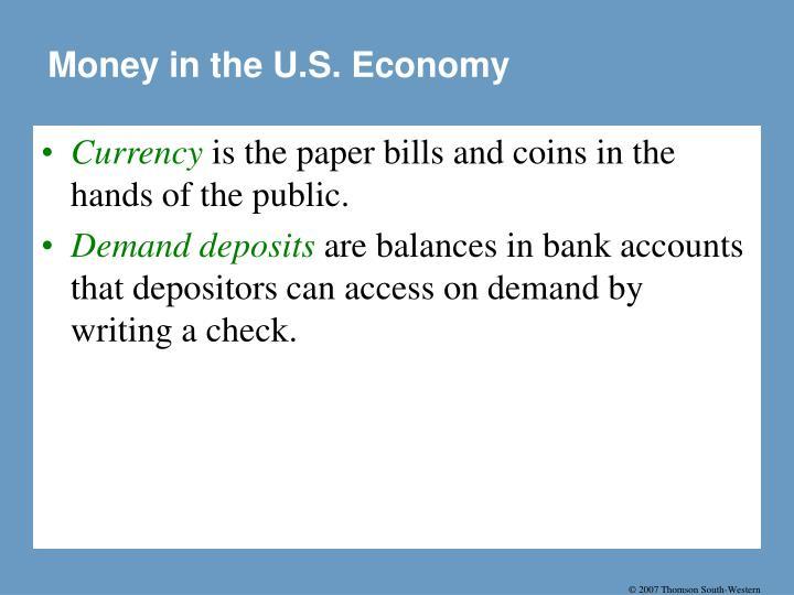 Money in the U.S. Economy