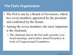the fed s organization