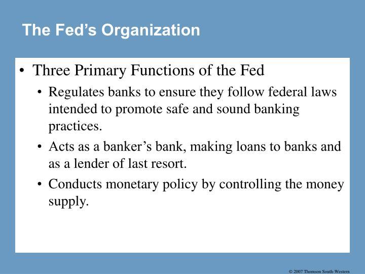 The Fed's Organization