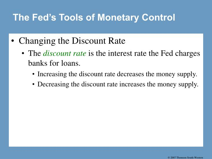 The Fed's Tools of Monetary Control