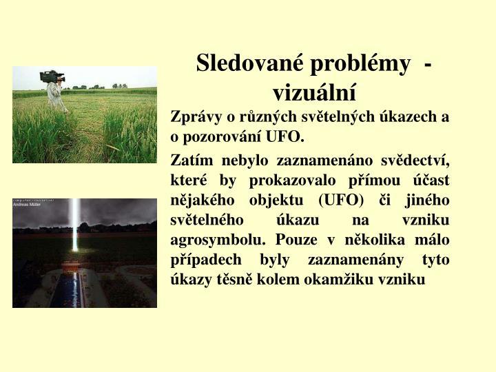 Sledované problémy