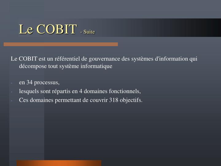 Le COBIT