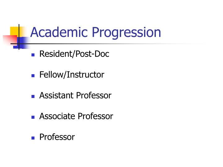 Academic Progression