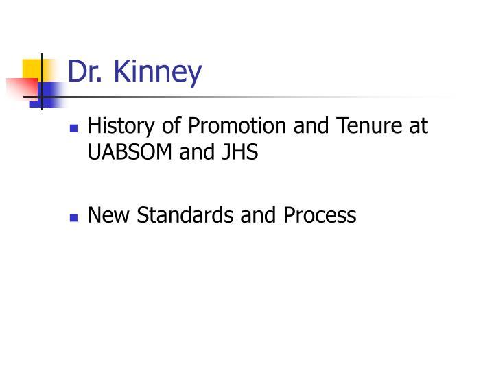 Dr. Kinney