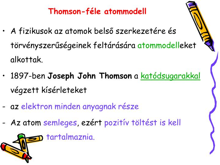 Thomson-féle atommodell