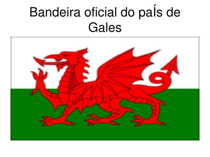 Bandeira oficial do pas de Gales