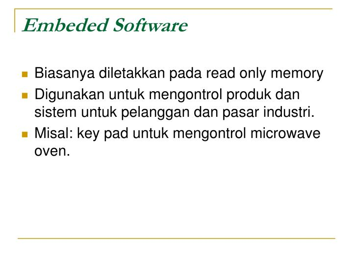 Embeded Software