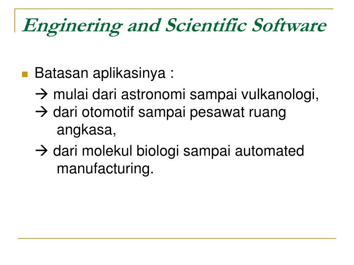 Enginering and Scientific Software
