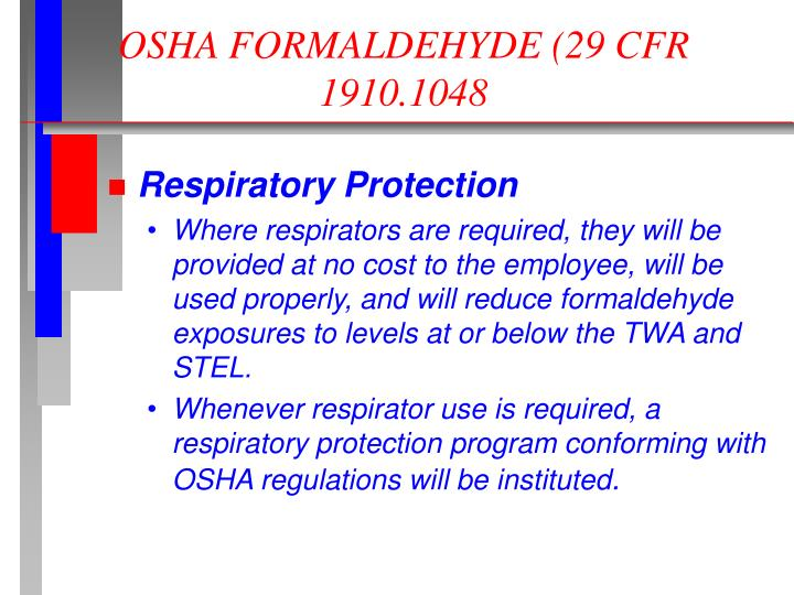 formaldehyde guidelines Formaldehyde please note that the layout and pagination of this pdf file are not necessarily identical to those of the printed cicad first draft prepared by.