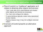 approaches to application configuration