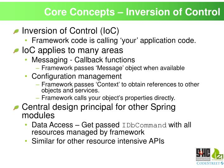 Core Concepts – Inversion of Control