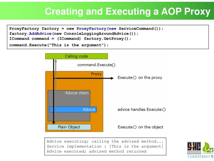 Creating and Executing a AOP Proxy