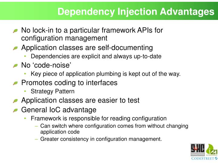Dependency Injection Advantages