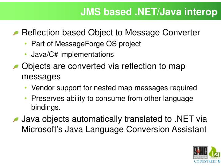 JMS based .NET/Java interop