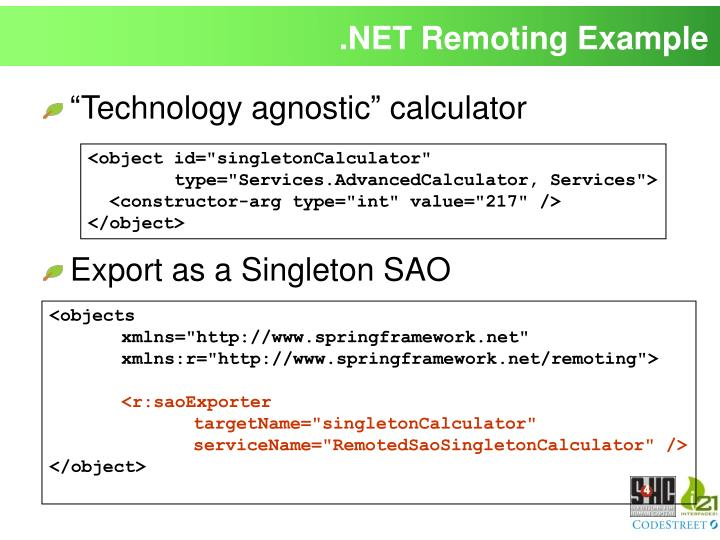 .NET Remoting Example