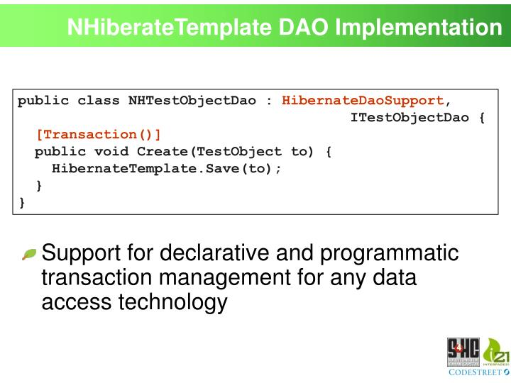 NHiberateTemplate DAO Implementation